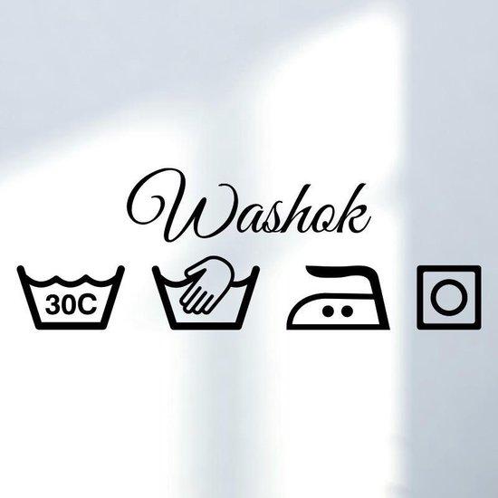 Muursticker washok symbolen