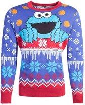 Sesamstraat Kersttrui -L- Cookie Monster Christmas Multicolours