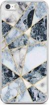 iPhone 5/5S/SE siliconen hoesje - Marmer blauw
