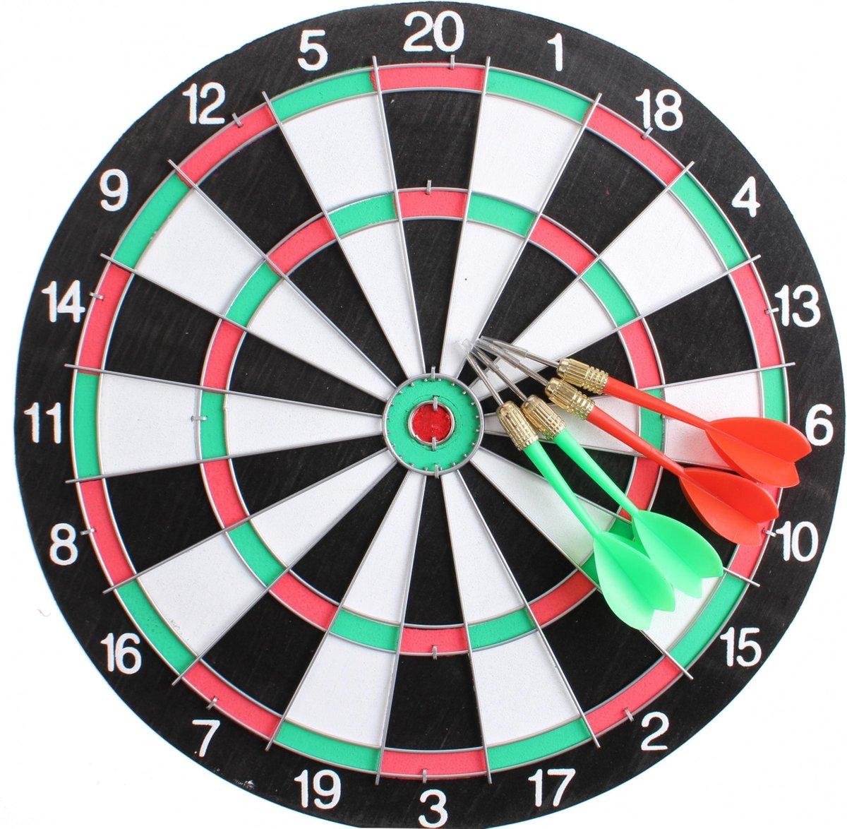 Master Darts Dartbord 28,5 Cm Met 4 Pijlen