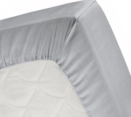 Cinderella - Topper hoeslaken (tot 15 cm) - Katoen - 160x210 cm - Light Grey