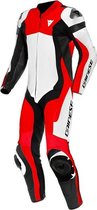 Dainese Assen 2 Perforated White Lava Red Black 1 Piece Motorcycle Suit 54