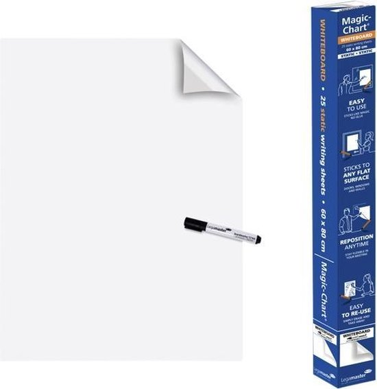 Legamaster - magic-chart - whiteboard - folie - 60x80cm - wit - 25 vel