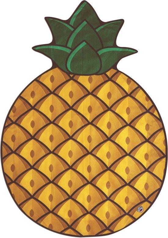 Ananas strandlaken – Beach Blanket Pinapple - Big Mouth badlaken - ø 1,5 meter - BigMouth