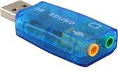 Externe USB (3D) Geluidskaart Adapter / Sound Card / Audio Kaart Dongle (Blue)
