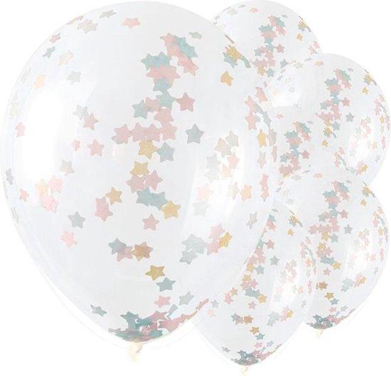 Ballonnen Confetti Sterren Multicolor - 5 stuks