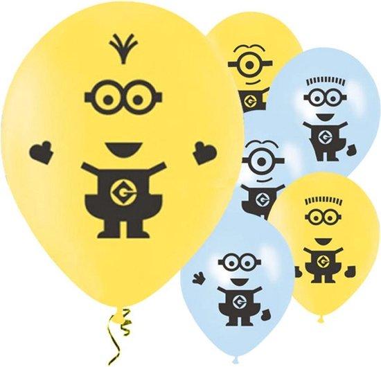 Ballonnen - Minion - Lichtblauw/Geel 6 stuks