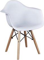 Kinder|Kids|Kuipstoel|Kinderstoel|Wit, met armleuning