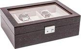 LA ROYALE Horlogebox Caldo - Grijs - Geschikt voor 10 horloges