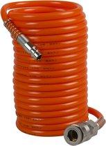 FERM ATA1026 Spiraalslang -  5 meter - Max. werkdruk: 8 bar - Met DIN/Orion snelkoppeling (Universeel) - Geschikt voor alle FERM Compressoren