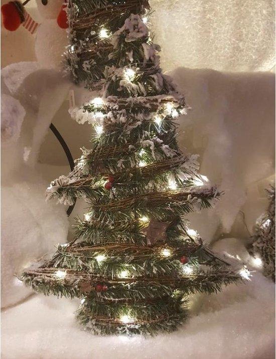 Bol Com Kerstboom Decoratie 40 Cm Met Warm Wit Led Licht Op Batterij