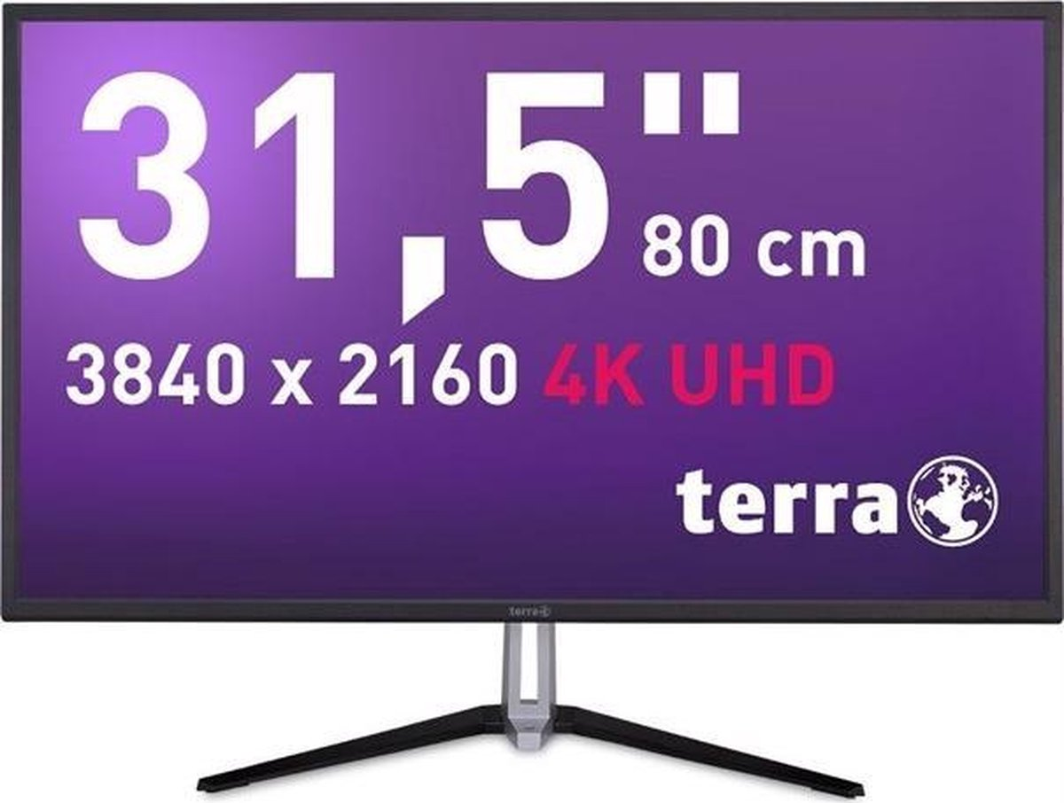 Wortmann AG TERRA 3290W 80 cm (31.5) 3840 x 3160 Pixels 4K Ultra HD LED Zwart