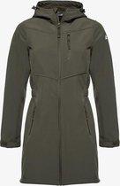 Mountain Peak dames outdoor softshell jas - Groen - Maat S - Winddicht en waterafstotend - Ademend materiaal