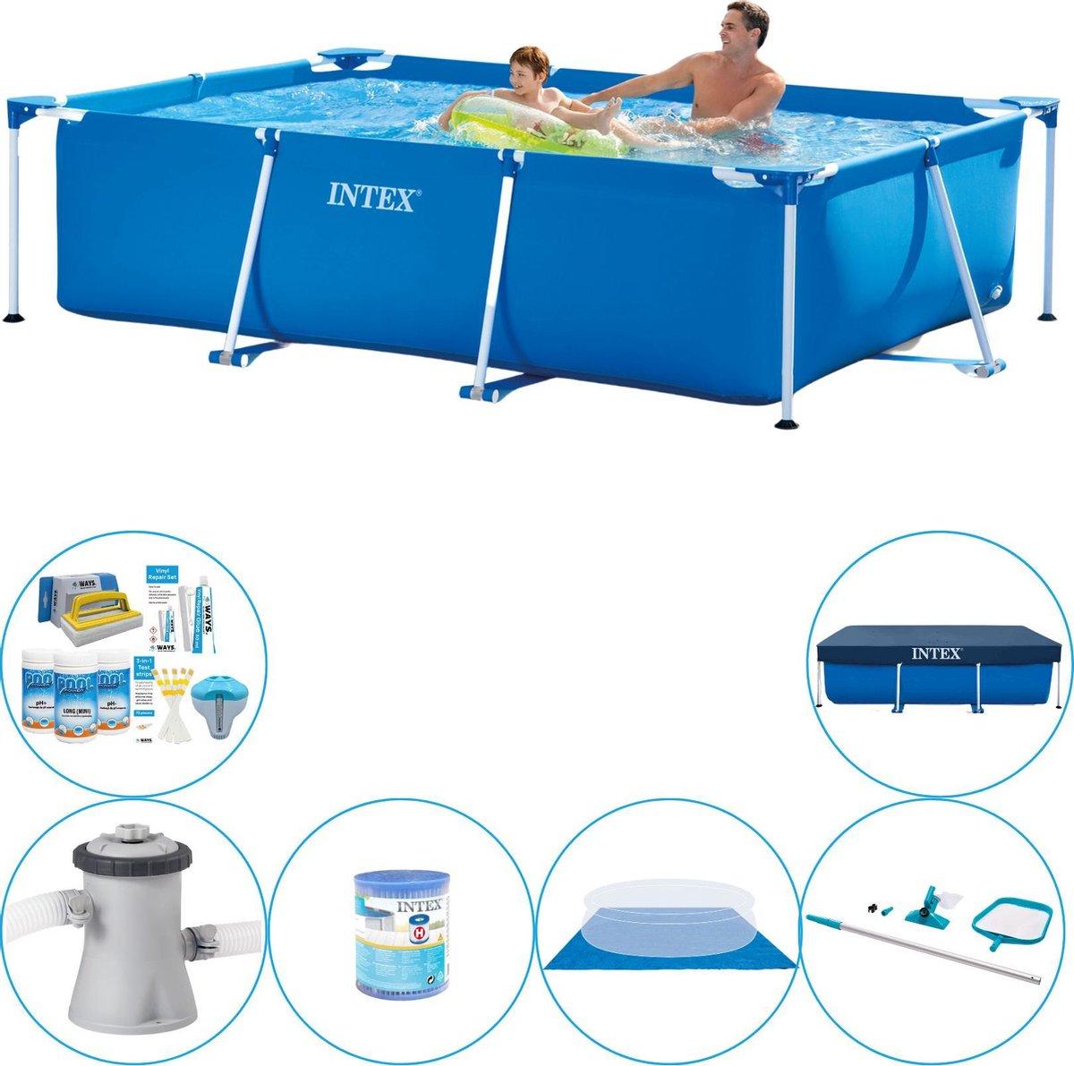 Intex Frame Pool Zwembad - 260 x 160 x 65 cm - Inclusief Accessoires
