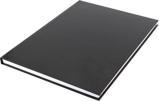 Afbeelding van dummyboek Kangaro A4 blanco hard cover 80 blad 100grs zwart