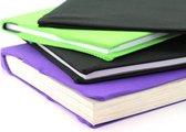 Rekbare boekenkaft 4st ass. - zwart, paars en groen