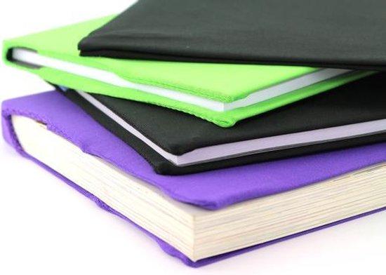 Afbeelding van Rekbare boekenkaft 4st ass. - zwart, paars en groen speelgoed