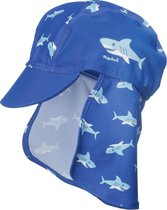 Playshoes UV zonnepetje Kinderen Shark - Blauw - Maat 49cm