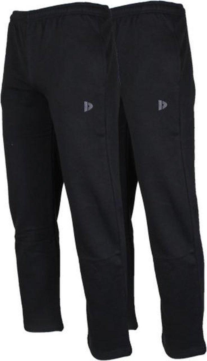 2-Pack Donnay Joggingbroek rechte pijp - Sportbroek - Heren - Maat XL - Zwart