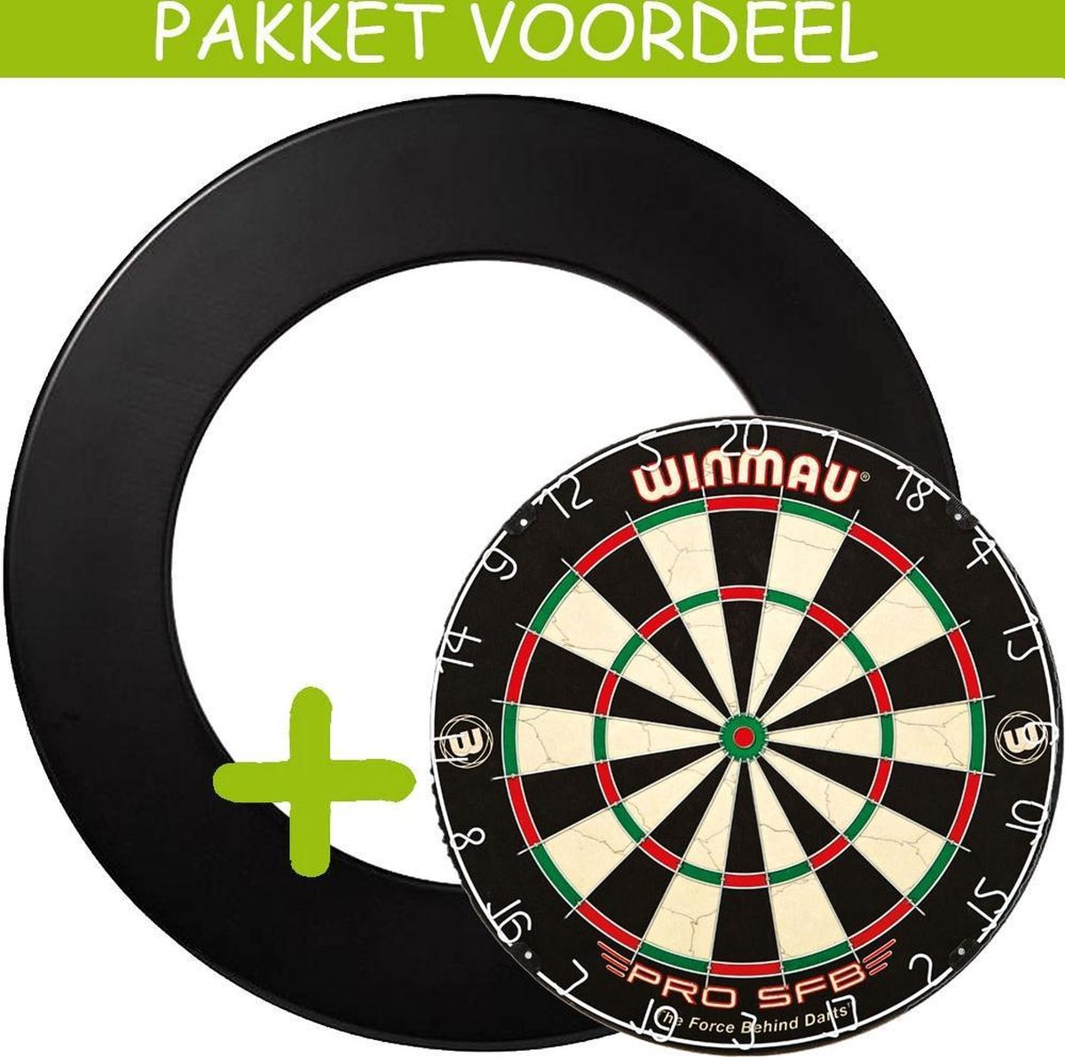 Dartbord Surround VoordeelPakket - Pro SFB - Rubberen Surround-- (Zwart)