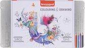 Bruynzeel - 60-delig kleurblik met potloden, gum en slijper - Super Sixties Kever