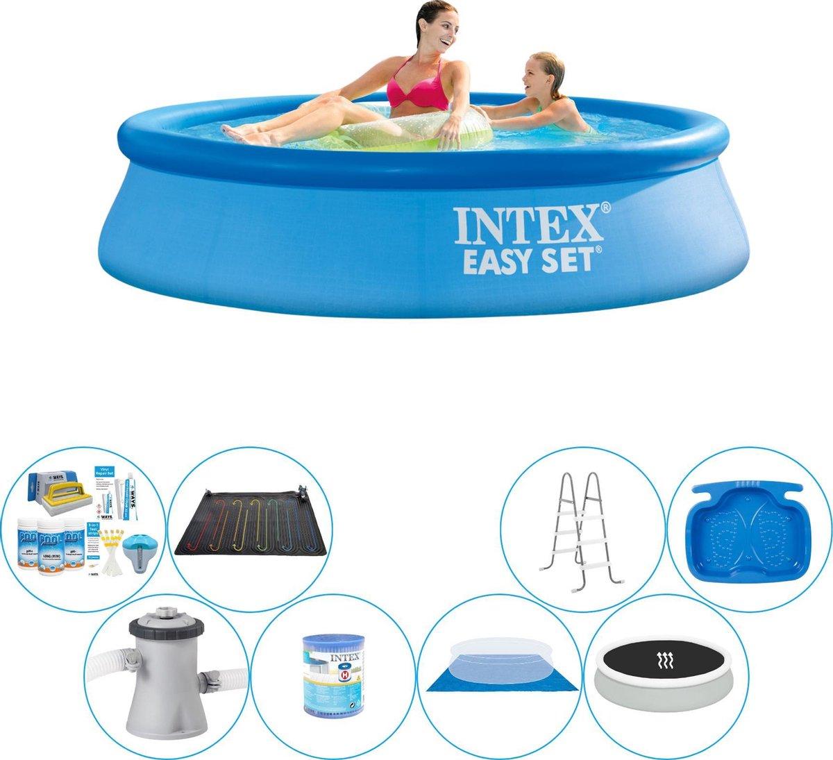 Intex Easy Set Rond 244x61 cm - Deluxe Zwembad Pakket