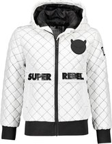 Superrebel Unisex jassen Superrebel SuperRebel Unisex quilted oversized White 8/128