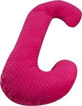 Voedingskussen / Zwangerschapskussens   C-vorm 240 cm   Roze