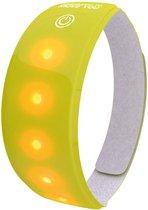Wowow Lightband Arm/Enkel - Reflectieband - LED - FluorGeel