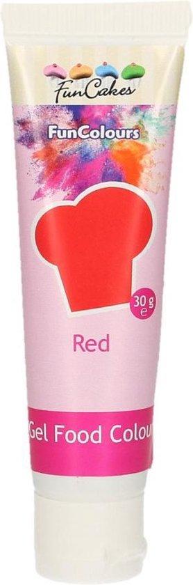 FunCakes Eetbare Voedingskleurstof - Kleurstof voor bakken Rood 30g