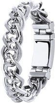 Lucardi - Stalen armband schakel