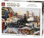 Afbeelding van King Legpuzzel Travelilng On The Oriënt Express 1000 Stukjes