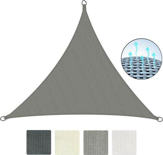 Sol Royal Zonnezeil en Schaduwdoek driehoek vorm - robuust en gemakkelijk te onderhouden - SolVision HS9 300x300cm grijs