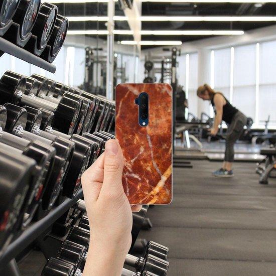 TPU Siliconen Hoesje OnePlus 7T Pro Marmer Bruin