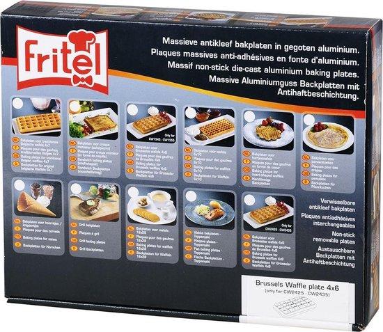 Set bakplaten Brusselse/Luikse wafels 4 x 6