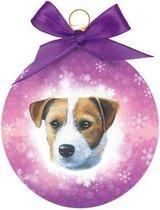 Dieren kerstballen Jack Russell honden 8 cm - Huisdieren kerstballen Jack Russels honden
