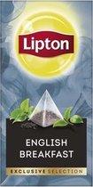 Lipton - Exclusive selection thee English Breakfast - 25 Pyramide zakjes
