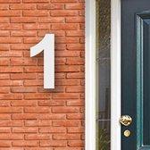 Huisnummer Acryl wit, cijfer 1, Hoogte 16cm | Huisnummer plexiglas | Huisnummer modern | Huisnummer kopen | Topkwaliteit | Gratis verzending!