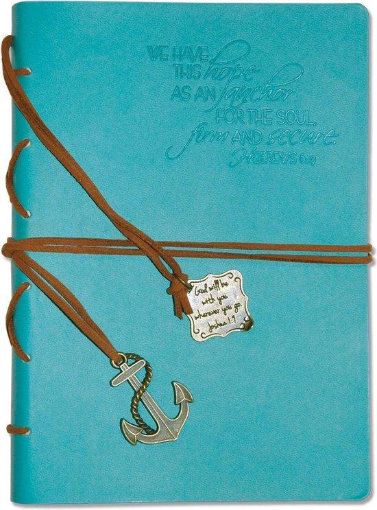 Afbeelding van Journal - Faux Leather - We have this hope as an anchor - Aqua - Christelijk, Bijbel