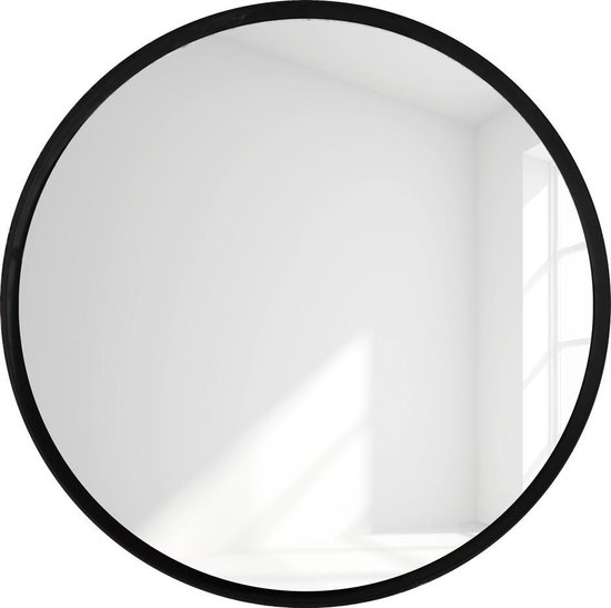 Ongekend bol.com | Ronde Spiegel Zwart / Staal - 75x75cm MI-93