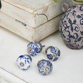LOBERON Kastknoppen Porcelline blauw/wit
