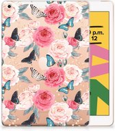 TPU Siliconen Hoesje iPad 10.2 (2019) Butterfly Roses