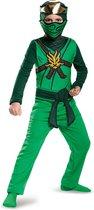 DISGUISE - Groen Lego Ninjago Lloyd kostuum voor kinderen - 134/152 (10-12 jaar) - Kinderkostuums