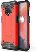 OnePlus 7T Hoesje - Armor Hybrid - Rood
