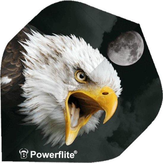 Bull´s Powerflite Zeearend Wit/zwart 3 Stuks