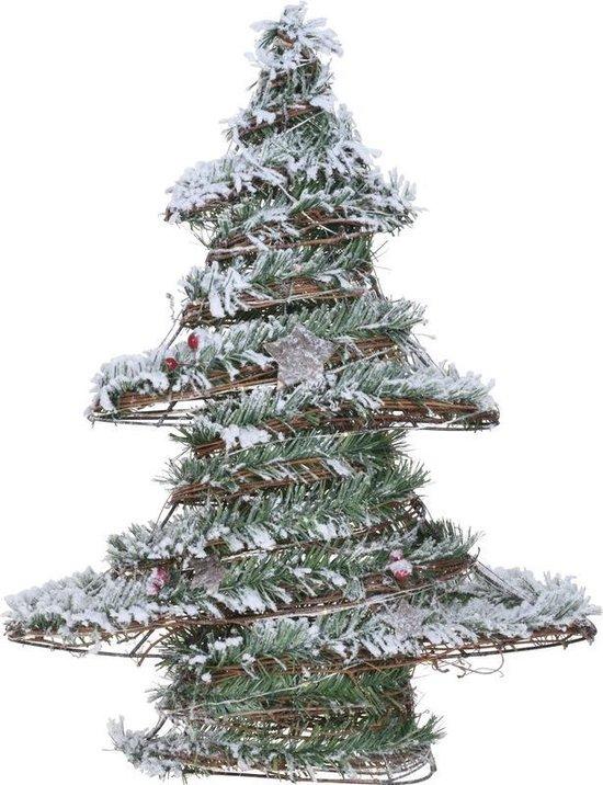Bol Com Kerstboom Decoratie 50 Cm Met Warm Wit Led Licht Op Batterij
