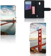 Nokia 2.2 Flip Cover Golden Gate Bridge