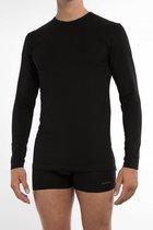 Claesen's Heren 1-pack lange mouw  t-shirt - Black- Maat S.