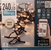 LED kerstverlichting 240 warm wit 24 meter voor binnen & buiten met app bediening