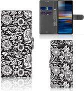 Sony Xperia 10 Hoesje Black Flowers